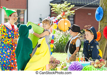 Children during dress up party - Kids entertainer and...