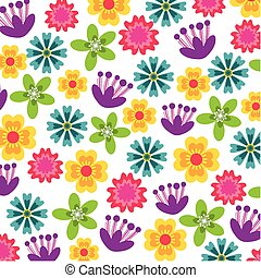 beautiful flowers design - background of beatiful...