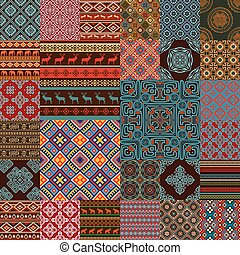 ethnic seamless textures - Pattern decoration elements in...