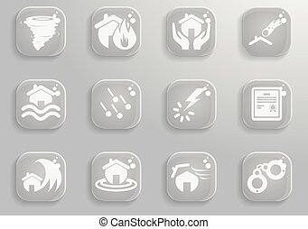Home Insurance Icons - Home Insurance simply symbols for web...