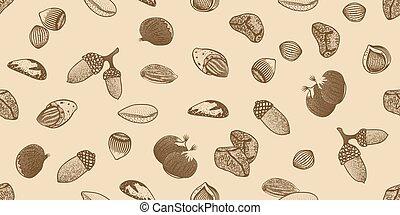 patrón, semillas, orgánico,  seamless