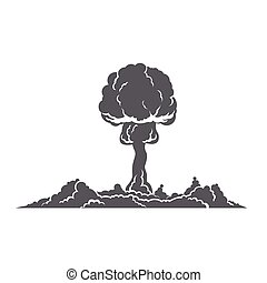 Nuclear Explosion Silhouette Concept - Nuclear explosion...