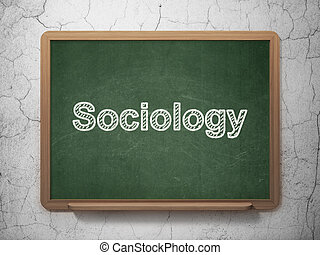 Studying concept: Sociology on chalkboard background -...