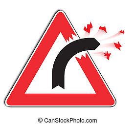 Curve Sign - slightly modified to display danger or out of...