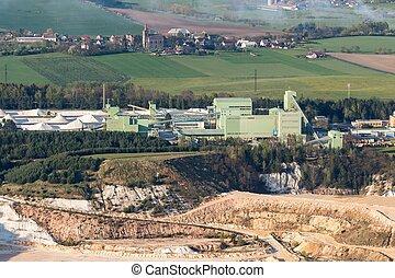 Sand quarry facility - Church and sand quarry mine Sklopisek...