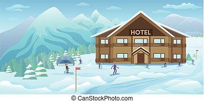 Winter Resort Background
