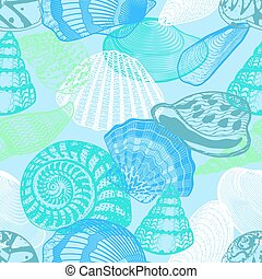 Colorful Underwater Ocean Life Seamless Pattern - Colorful...