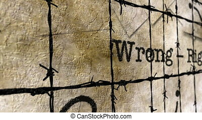Wrong right barbwire concept