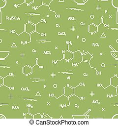 Seamless pattern with scientific, education elements:...