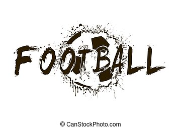 Banner the inscription football on the background abstract...