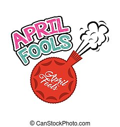 april fools day design - april fools day card with fart...