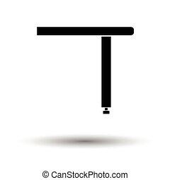 Briefing table console icon. White background with shadow...