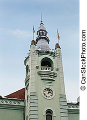 Tower of town hall in Mukachevo - Tower of city hall in...