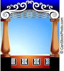 interior pillar - beautiful interior pillar with floral...