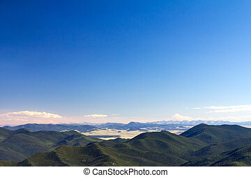 Mountains and Blue Sky in Colorado