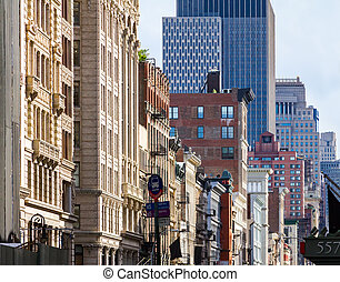 Buildings on Broadway in SOHO Manhattan, New York City -...