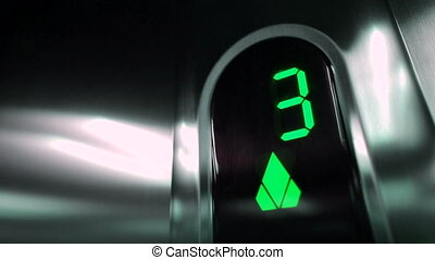 Green Elevator digits.