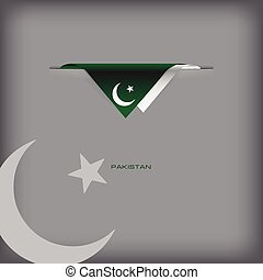 Pakistan sign - The combination of colors of the national...