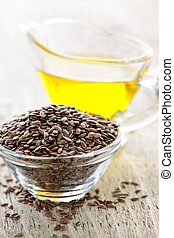 marrón, lino, Semilla, linaza, aceite