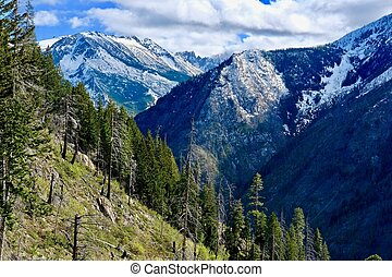 North Cascades wilderness. - Leavenworth. Seattle....