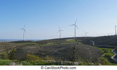 Wind turbines on the sunset - wind turbines on the sunset,...