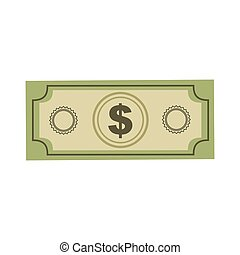 color silhouette with dollar bill