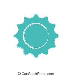 gear wheel icon over white background. vector illustration