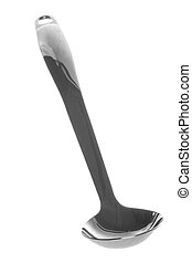 Stainless Steel Ladle Isolated - Isolated image of a...