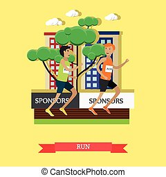 Light athletics concept vector illustration in flat style. -...