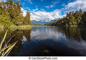 scenico, vista,  matheson, lago