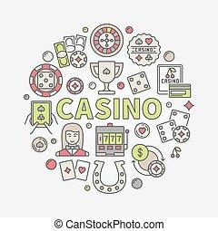 Colorful casino vector illustration