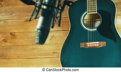 Recording Acoustic Guitar in Microphone on the Home Studio....