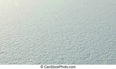 Snow on the frozen lake. Clean and frosty daytime. Smooth...