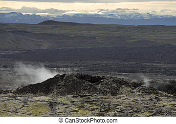 Geothermal Fields of Krafla Iceland - Geothermal Area in the...