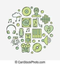 Music circular sign