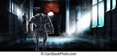 Fantasy illustration monster or mutant