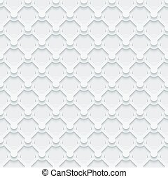 Light gray seamless pattern. Retro armor plate background. -...