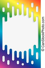 Colorful Halftone Transition Background with copyspace in...