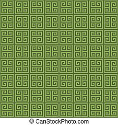 Greenery Classic meander seamless pattern. - Classic meander...