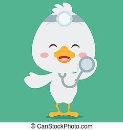 Character doctor swan vector art collection stock