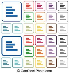 Text align left outlined flat color icons - Text align left...