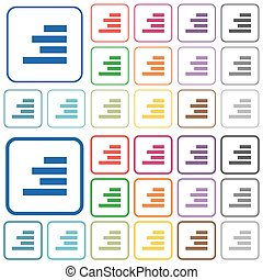 Text align right outlined flat color icons - Text align...