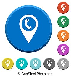 Call box GPS map location beveled buttons - Call box GPS map...