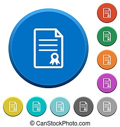 Certificate document beveled buttons - Certificate document...