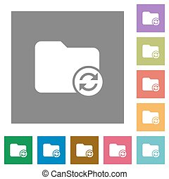 Refresh directory square flat icons - Refresh directory flat...