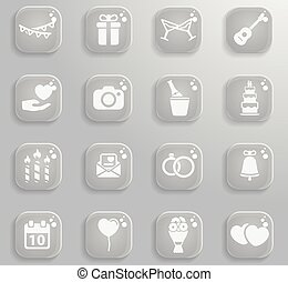 Wedding simply icons