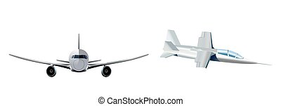 Two modern aircraft - Vector illustration of a two modern...