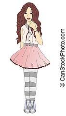 Trendy teen girl
