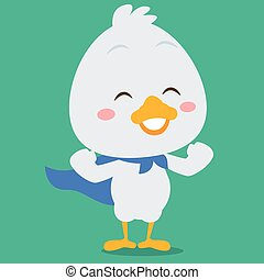 Super swan character style design vector illustration