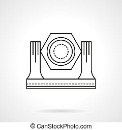 Stage lighting equipment flat line vector icon - Studio and...